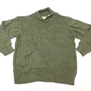 Weatherproof 2XL Green Cowl Neck Sweater Vintage C